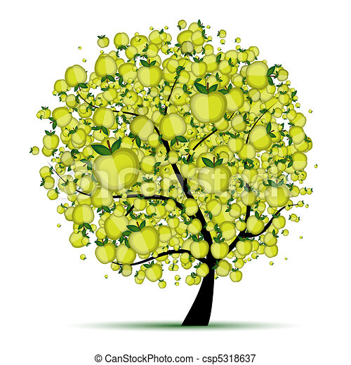 Energy apple tree for your design  - csp5318637
