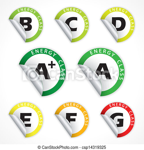 Energy class stickers from A+ to G - csp14319325
