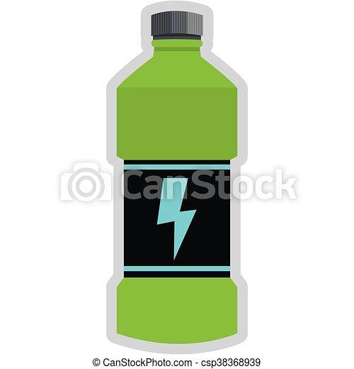 simple flat design energy drink bottle icon vector vectors rh canstockphoto com Wine Bottle Cold Bottle