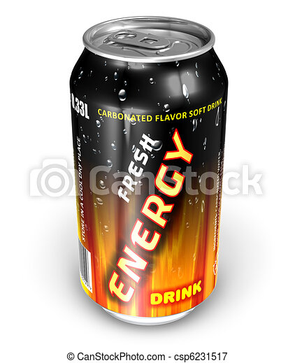 Energy drink in metal can - csp6231517