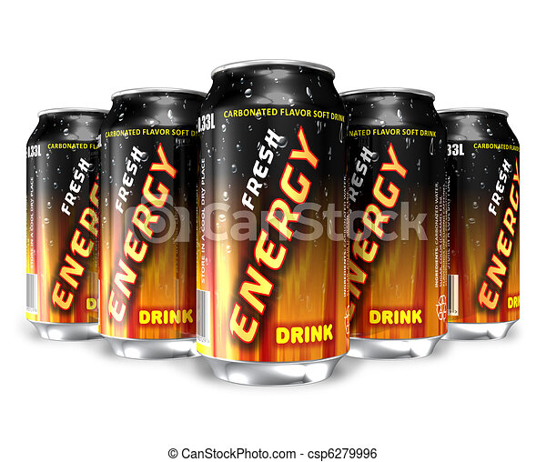 Energy drinks in metal cans - csp6279996