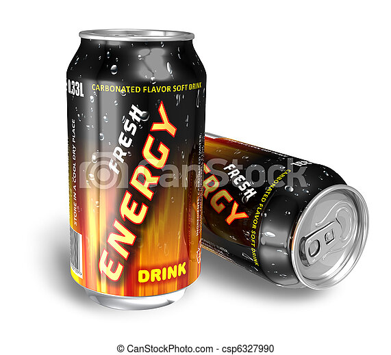 Energy drinks in metal cans - csp6327990