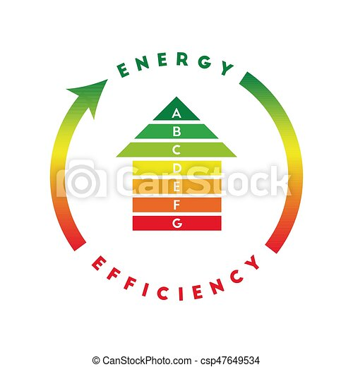Energy efficiency concept with house - csp47649534