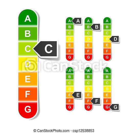 Energy efficiency rating - csp12538853