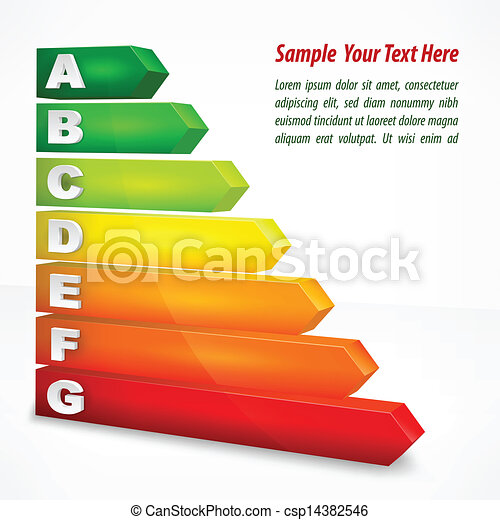 Energy efficiency rating color - csp14382546