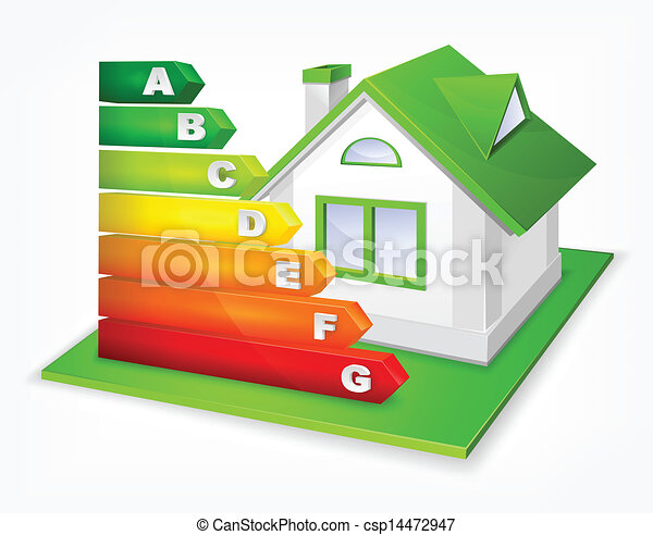 Energy efficiency rating with house - csp14472947