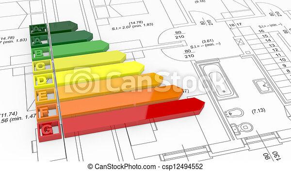 energy efficiency scale - csp12494552