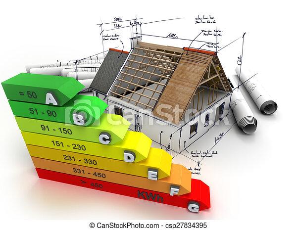 Energy efficient construction - csp27834395