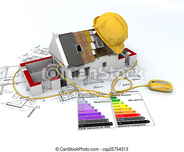 Energy efficient construction - csp25754313