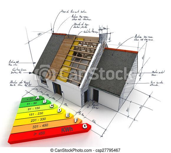 Energy efficient construction - csp27795467