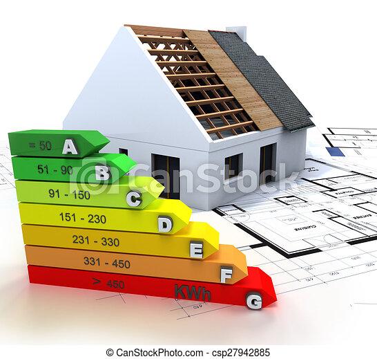 Energy efficient construction - csp27942885