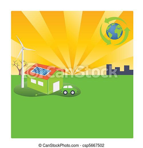 Energy Efficient Green Lifestyle - csp5667502