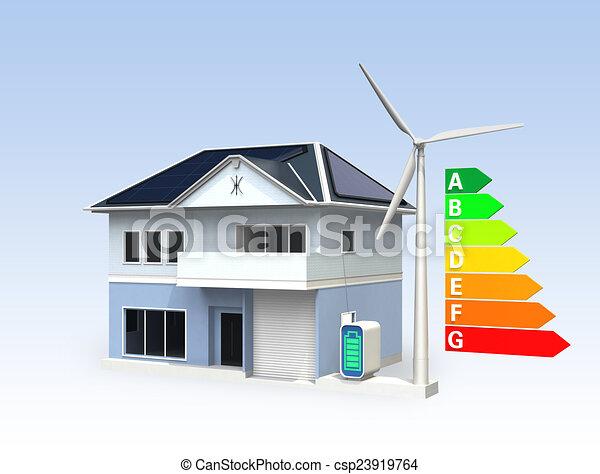 Energy efficient house - csp23919764