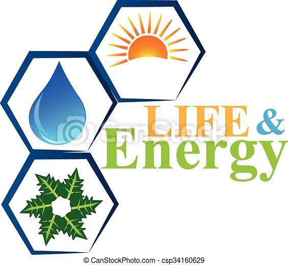 Energy elements of life logo vector - csp34160629