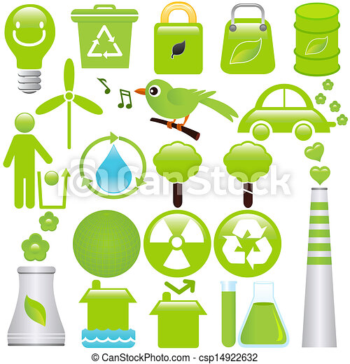 energy environmental conservation a set of vector icons rh canstockphoto com Detective Clip Art Meeting Clip Art