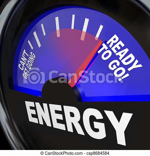 Energy Fuel Gauge Ready to Go - csp8684584