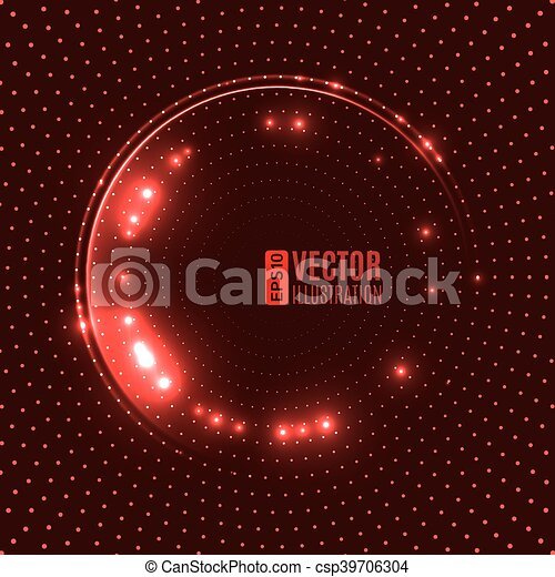 Energy Glowing Circle Vector Background
