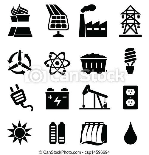 Energy icon set - csp14596694