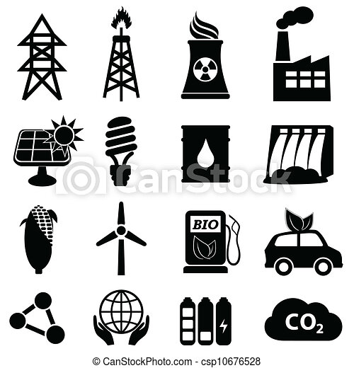 Energy icon set - csp10676528