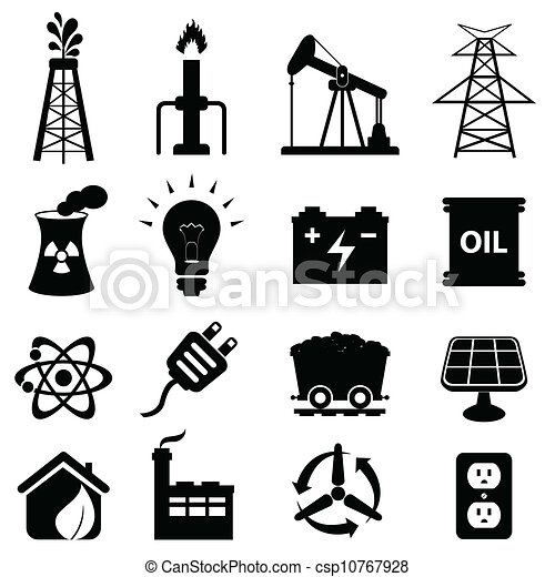 Energy icon set - csp10767928