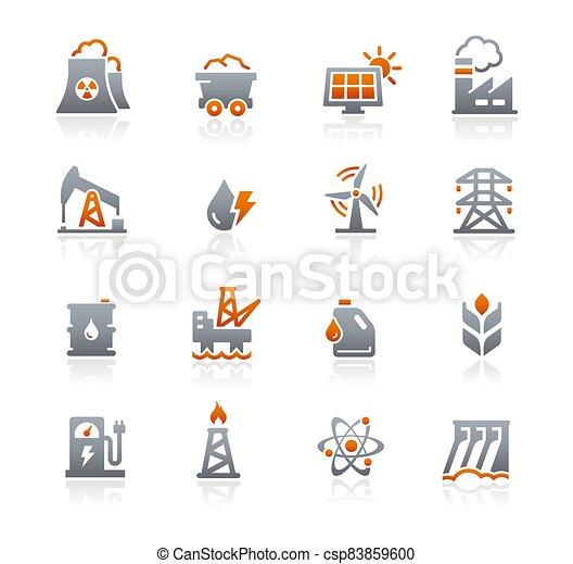 Energy Icons // Graphite Series - csp83859600