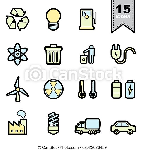 Energy icons set - csp22628459