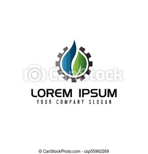 Energy liquid gear logo. oil gas industrial logo design concept ...