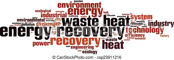 Energy recovery word cloud - csp23911216