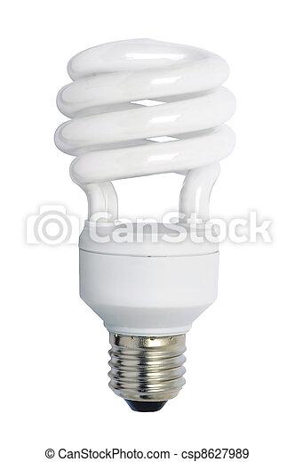 Energy saving bulb. Isolated image. - csp8627989