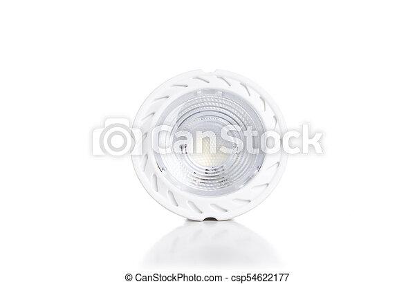 Energy saving LED light bulb isolated on white - csp54622177