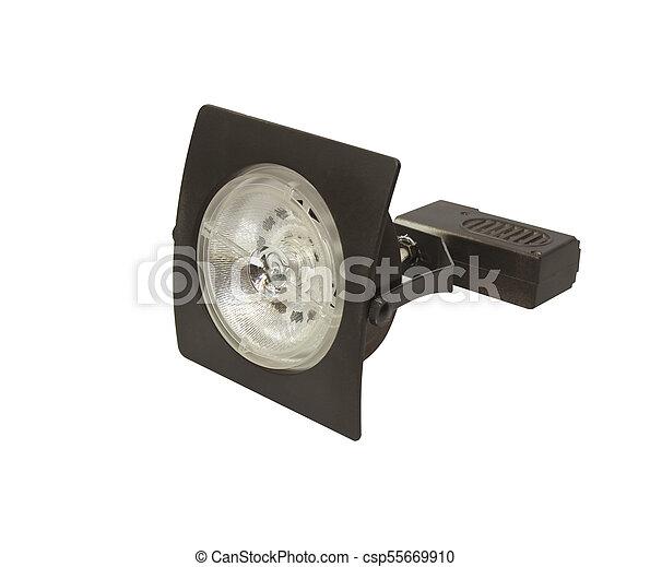 Energy saving LED light bulb isolated on white - csp55669910