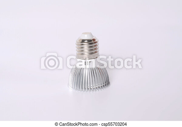 Energy saving LED light bulb isolated on white - csp55703204