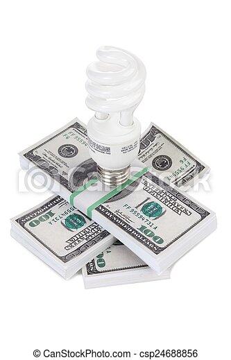 energy saving light bulb - csp24688856