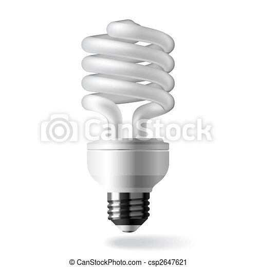 Energy saving light bulb - csp2647621