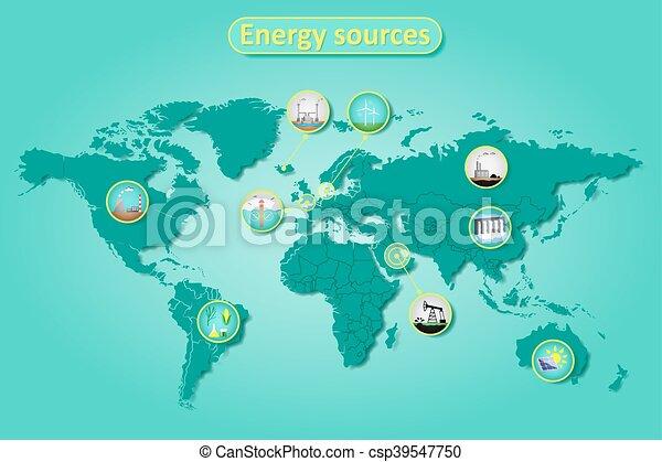 energy sources infographics - csp39547750
