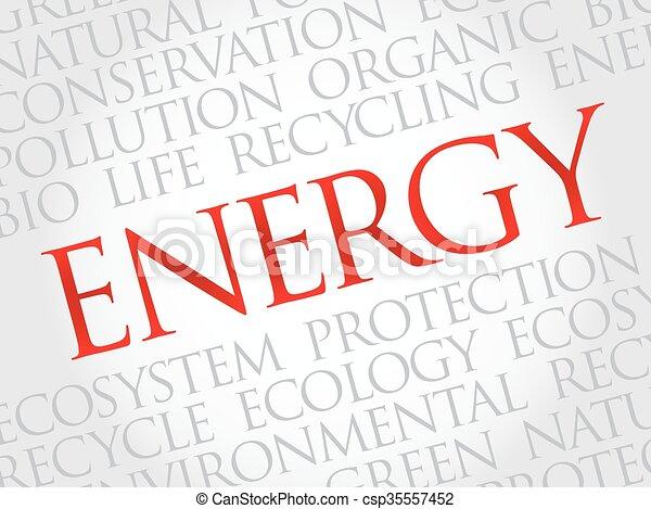 Energy word cloud - csp35557452