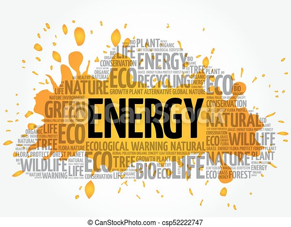 Energy word cloud - csp52222747