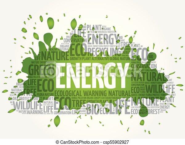 Energy word cloud - csp55902927