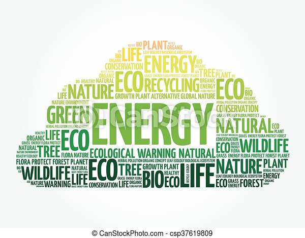 Energy word cloud - csp37619809