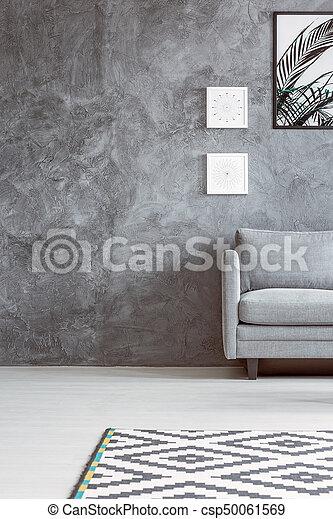 svart vit matta vardagsrum
