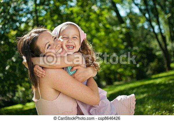enfant, -, bonheur, elle, mère - csp8646426