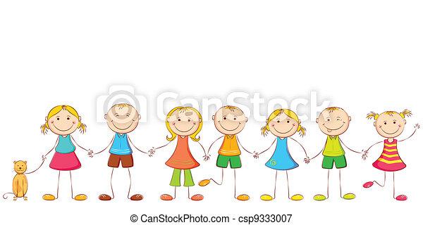 enfant, tenant mains - csp9333007