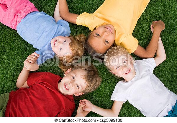 enfants, groupe - csp5099180