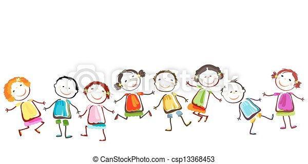 enfants, heureux - csp13368453