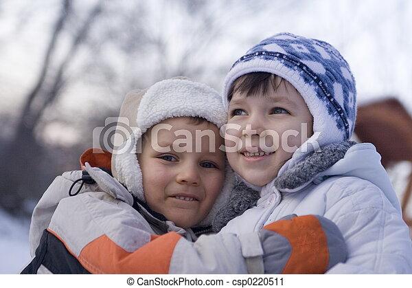 enfants, heureux - csp0220511