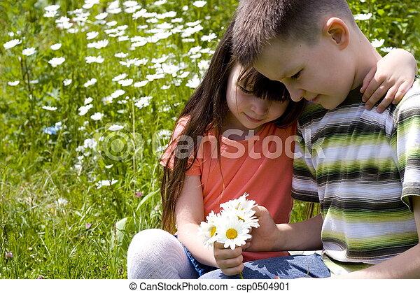 enfants, heureux - csp0504901