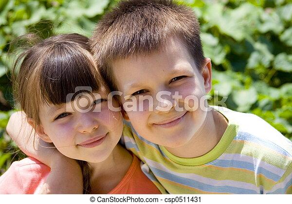 enfants, heureux - csp0511431