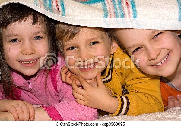enfants, heureux - csp3360095