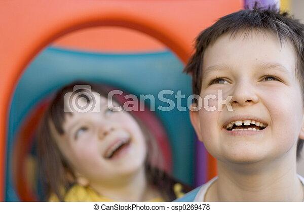 enfants, heureux - csp0269478