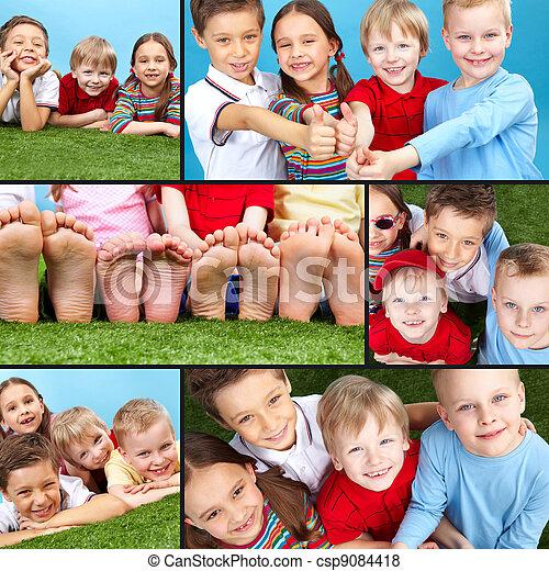 enfants, heureux - csp9084418